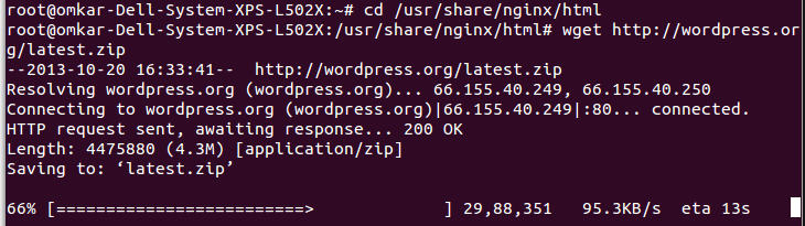 Installing WordPress on Nginx - Screenshot 7