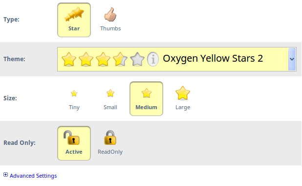 Star Rating Widget