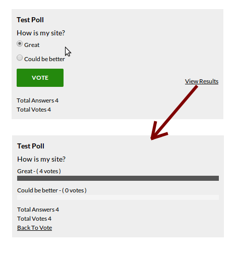 An Example of a YOP Poll
