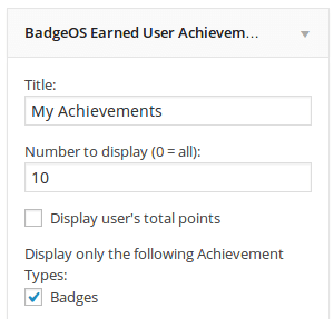 BadgeOS Widget