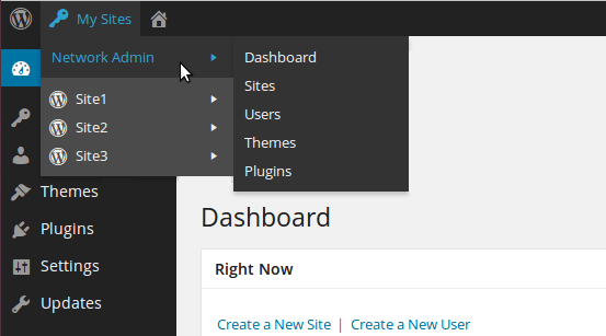 WordPress-Network-Admin-Panel