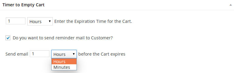 Timer to Empty WooCommerce Cart - Email