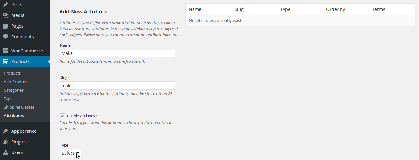 woocommerce-add-attributes