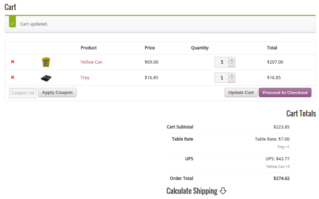 Products With Disparate Shipping Options in Single Cart