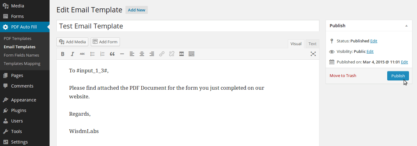 Gravity forms form automation pdf auto fill solution for Making an email template