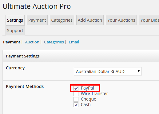 Commission Feature-in-Ultimate-Auction-Pro-select-paypal