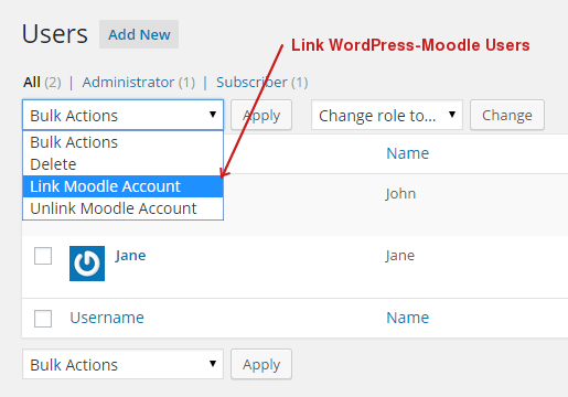 link-wordpress-moodle-users