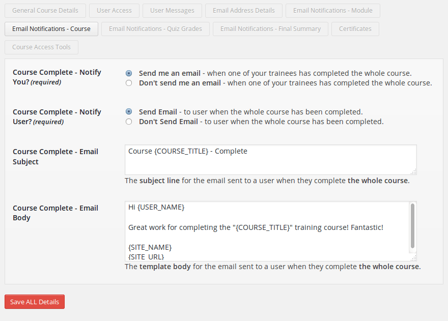 wp-courseware-email-notifications