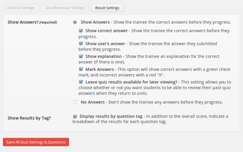 wp-courseware-result-settings