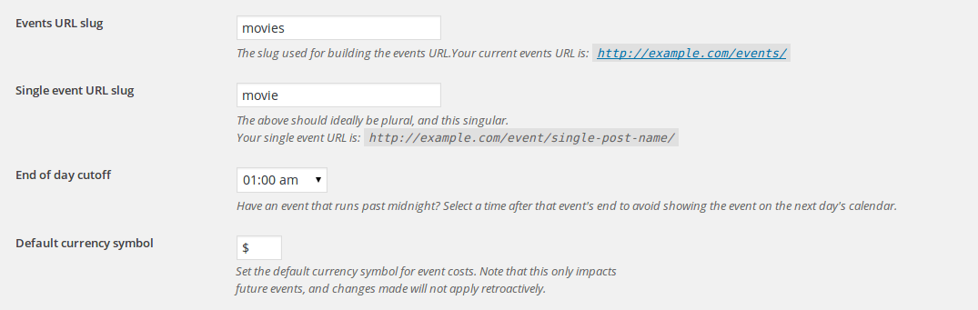 the-events-calendar-settings