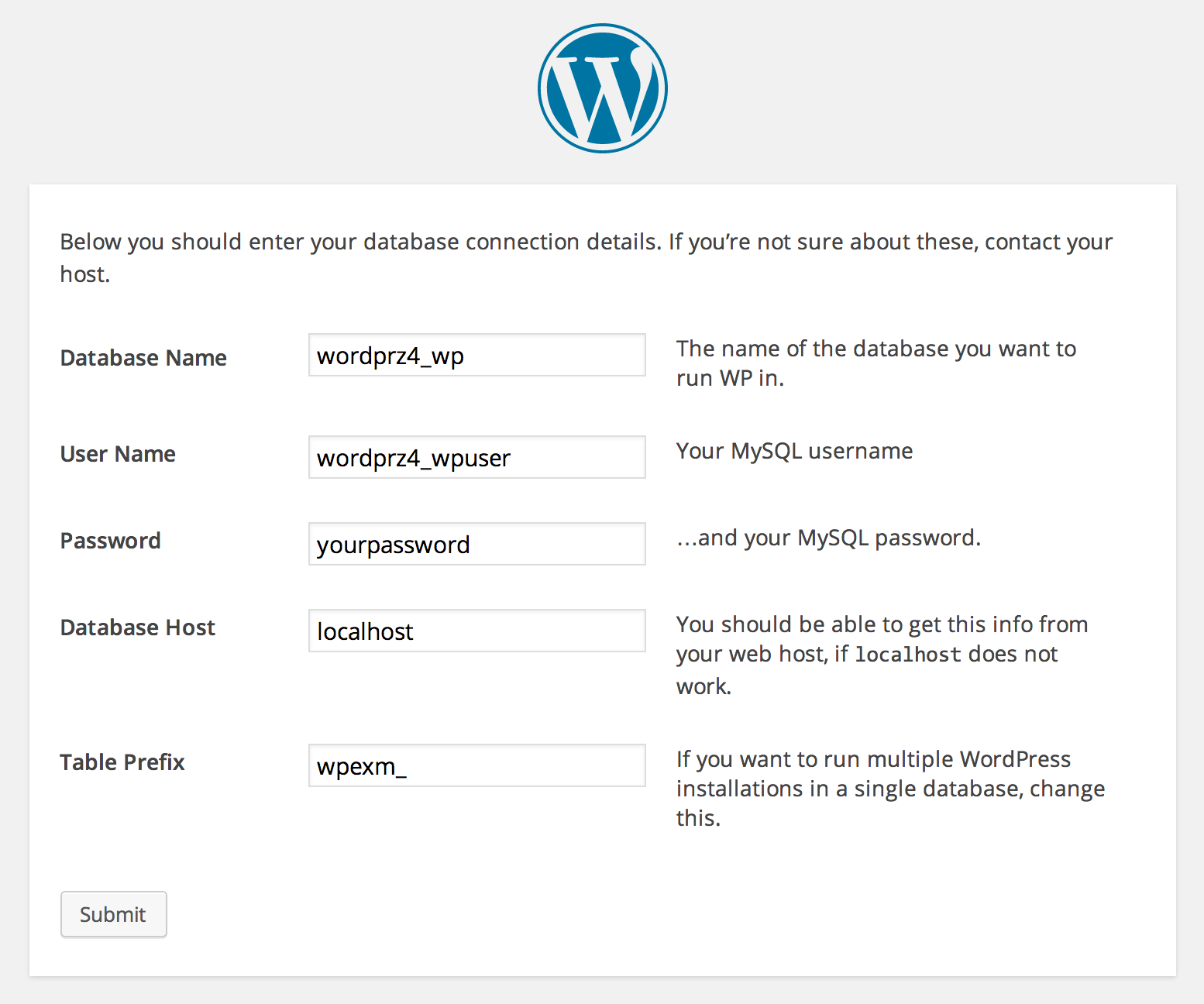 make-wordpress-setup
