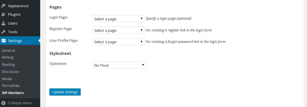 wp-members-page-settings