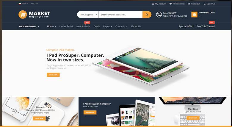 Market-magento-theme-layout