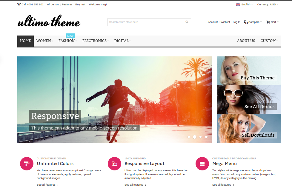 Ultimo-magento-theme-layout