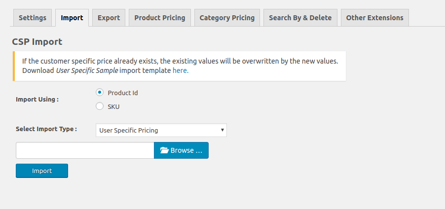 Dynamic Pricing Import Export