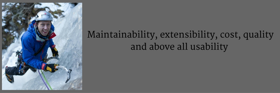 Maintainability, extensibility