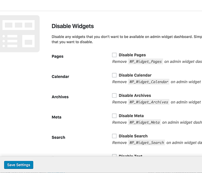 disable-widgets