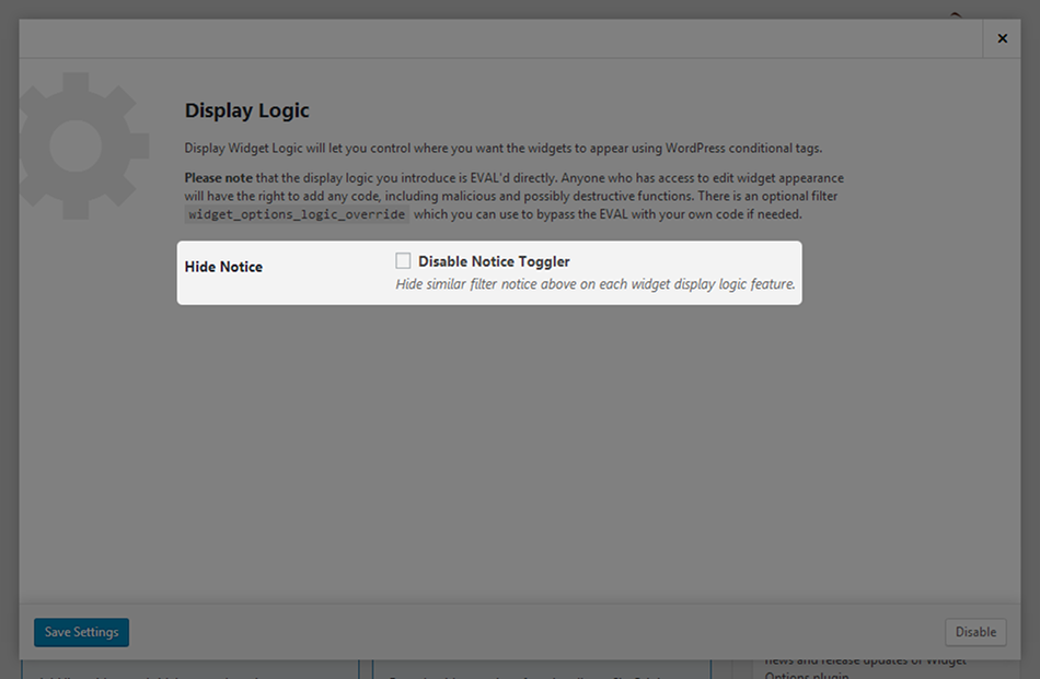 display-logic-settings