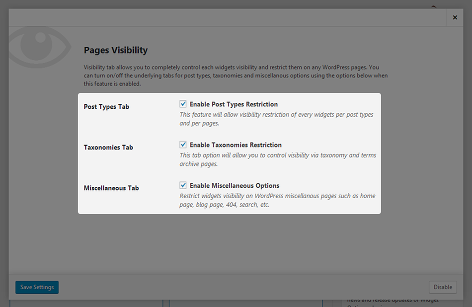 page-visibility-settings