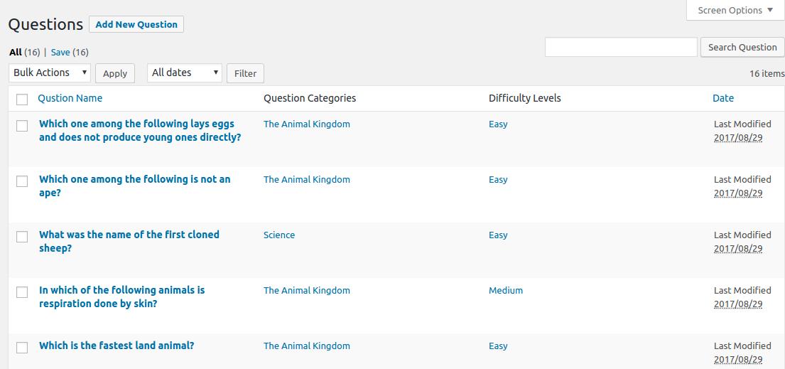 Wisdm Games For Wordpress  Installation  U0026 User Guide