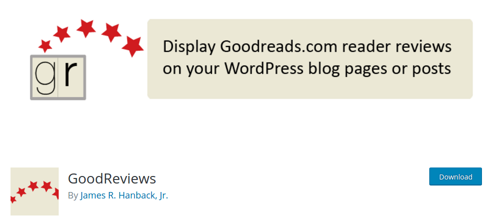 goodreviews-plugin