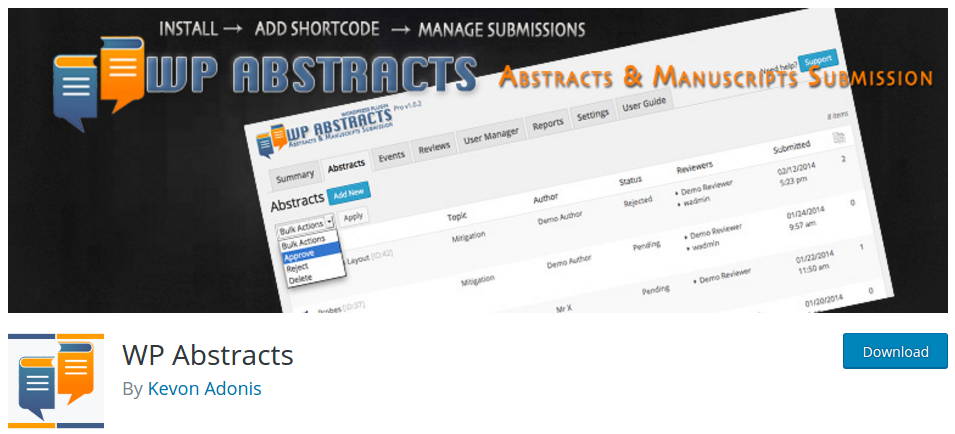 wp-abstracts