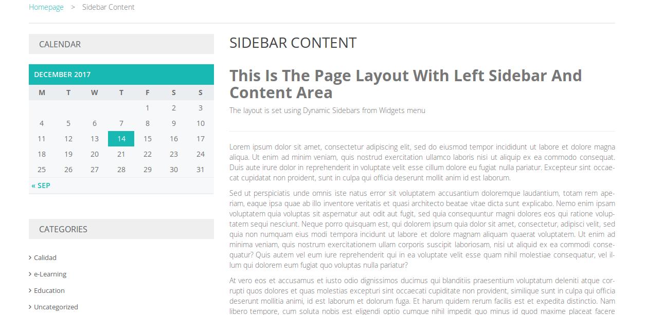 Pathshala Sidebar Content