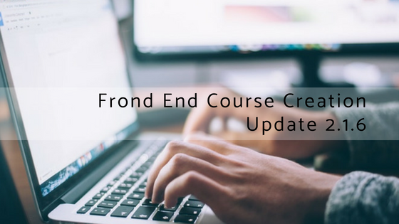 front-end-course-creation-update