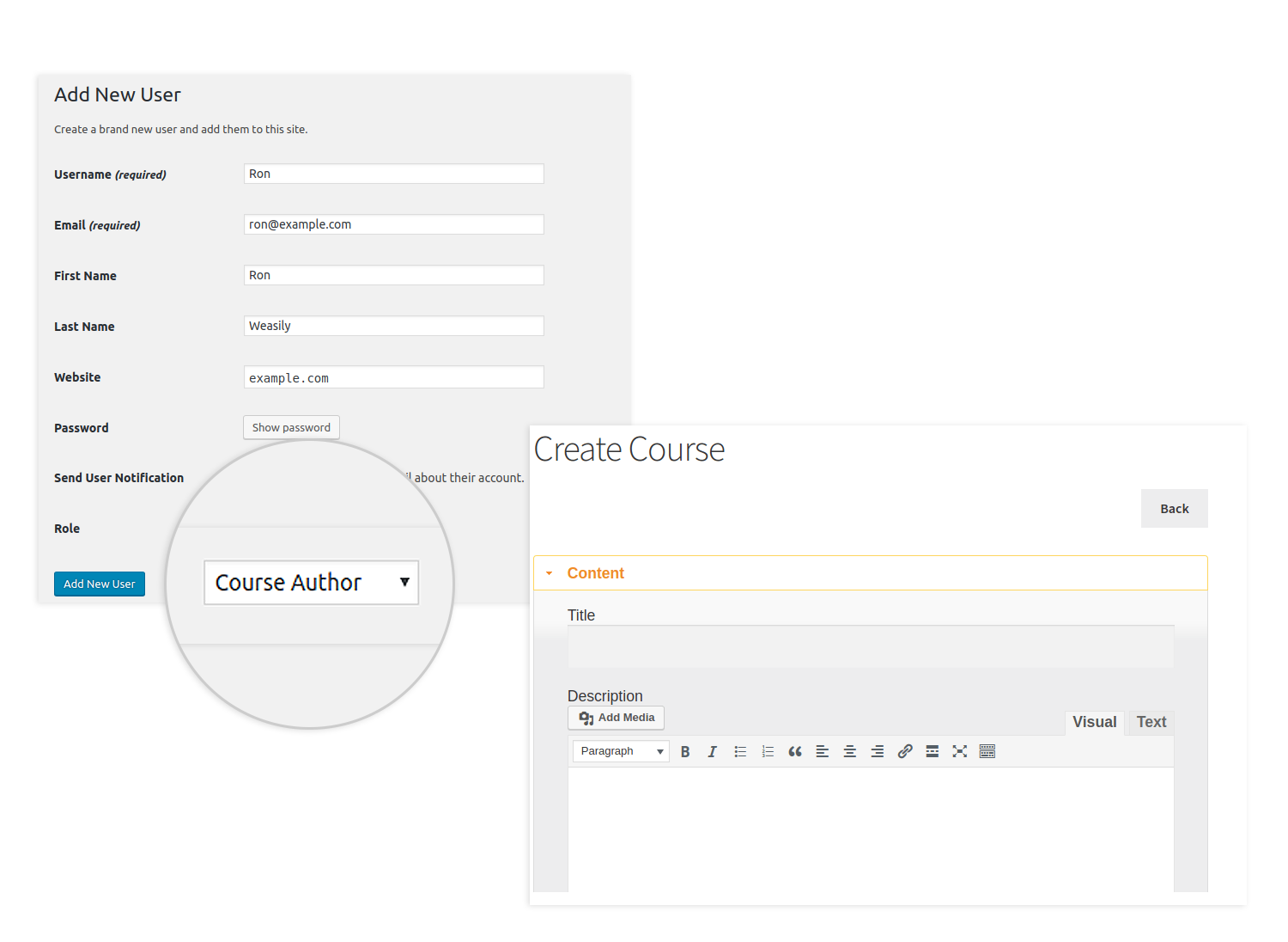 publish or save draft frontend course creation learndash