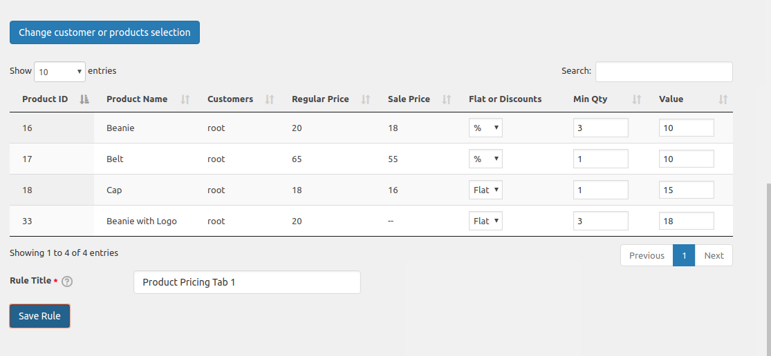 Dynamic Pricing for WooCommerce Plugin