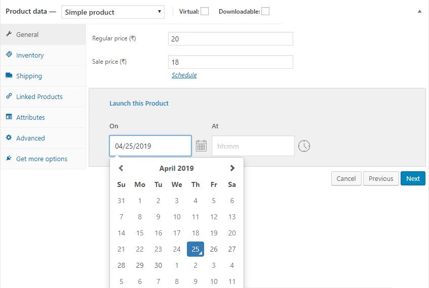 Edit product Schedule Date Range ‹ WooCommerce Scheduler — WordPress