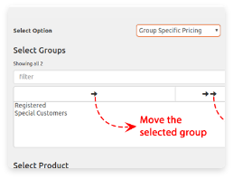 icon for set different pricing for different groups