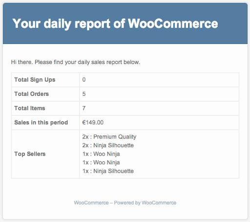WooCommerce sales reports